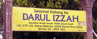 Sign board ke rumah anak yatim darul izzah