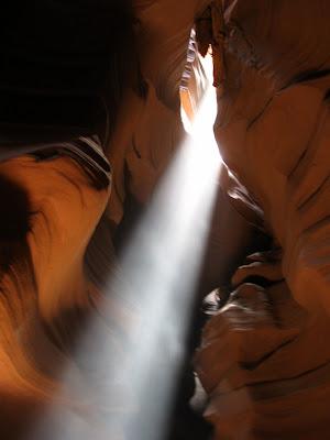 Light shaft Antelope Slot Canyon Page Arizona