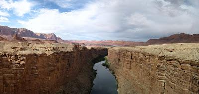 Marble Canyon & Colorado River from Navajo Bridge Arizona