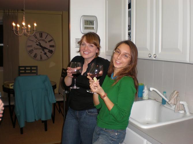 Allison & Nathalie - friends from MA program
