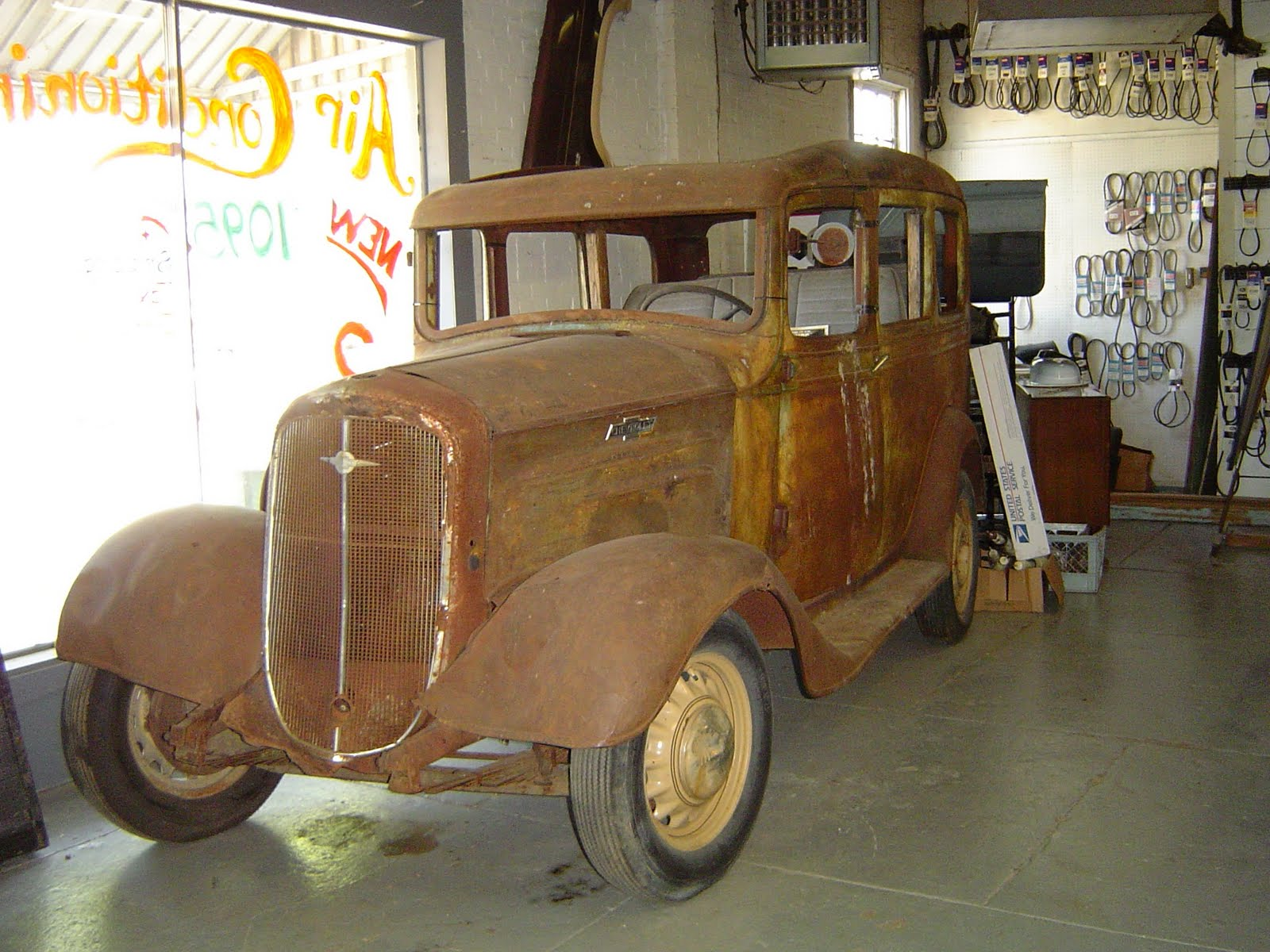 The 1936 Suburban sits on our