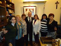Mujeres de River con Julio Grondona en AFA