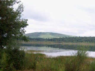 photo of Great Blue Hill from Ponkapoag Pond, Canton, MA