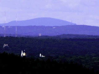 photo of Wachusett Mountain from Buck Hill in the Blue Hills.