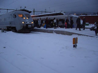 X2000 #568 has arrived at Sundsvall C