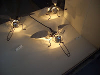 Lamps in the form of flies