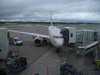 Embla Viking at the gate at Arlanda