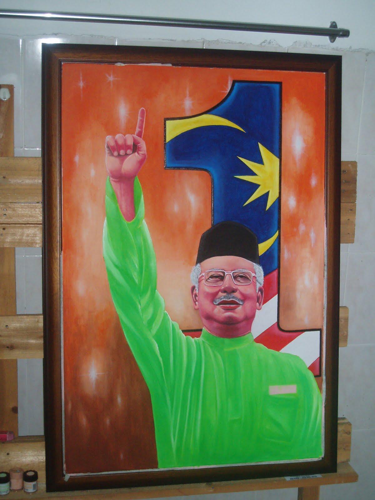 Pelukis mural shah alam potret 1 malaysia for Mural 1 malaysia