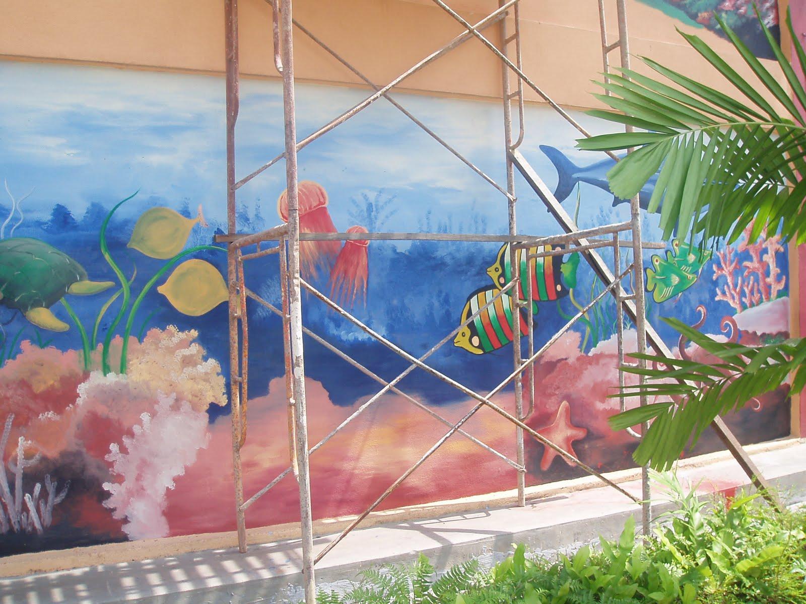 Lukisan Pemandangan Di Dasar Laut