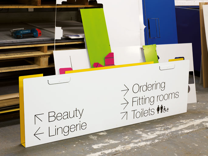 effective retail signage Help customers navigate your store with informational, attractive signage.