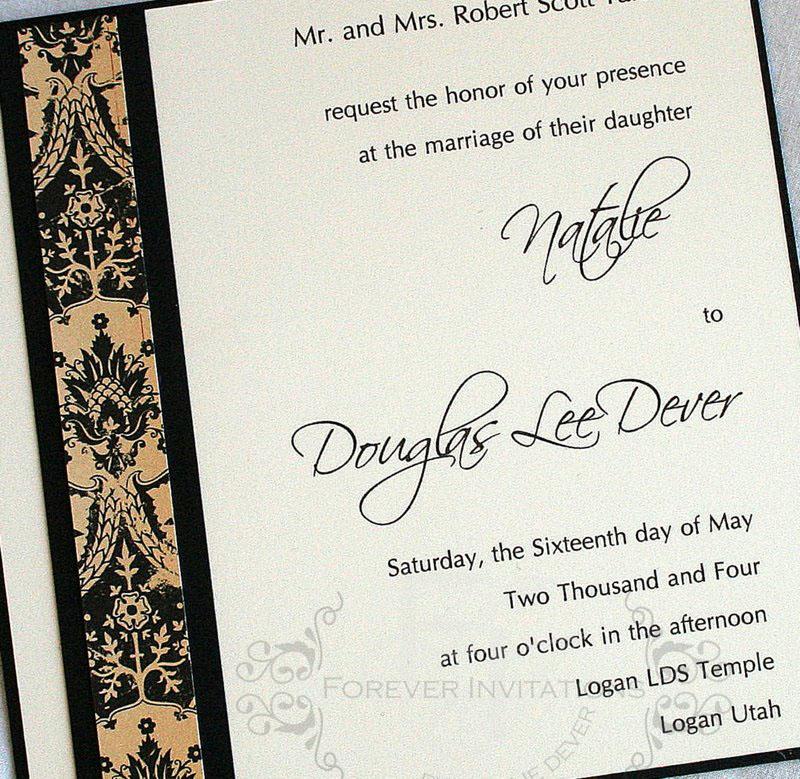 Black and Cream Wedding Invitations are Oh so elegant