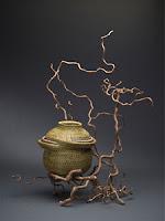 Coiled Sweetgrass Basket by Debora Muhl