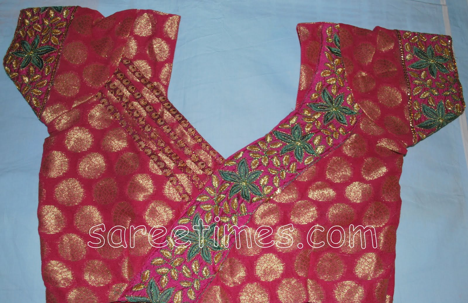Pin Blouse Back Neck Designs For Saree Short Style Indian on Pinterest