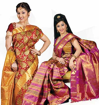 Check out designer kancheepuram sarees with new designs and patterns
