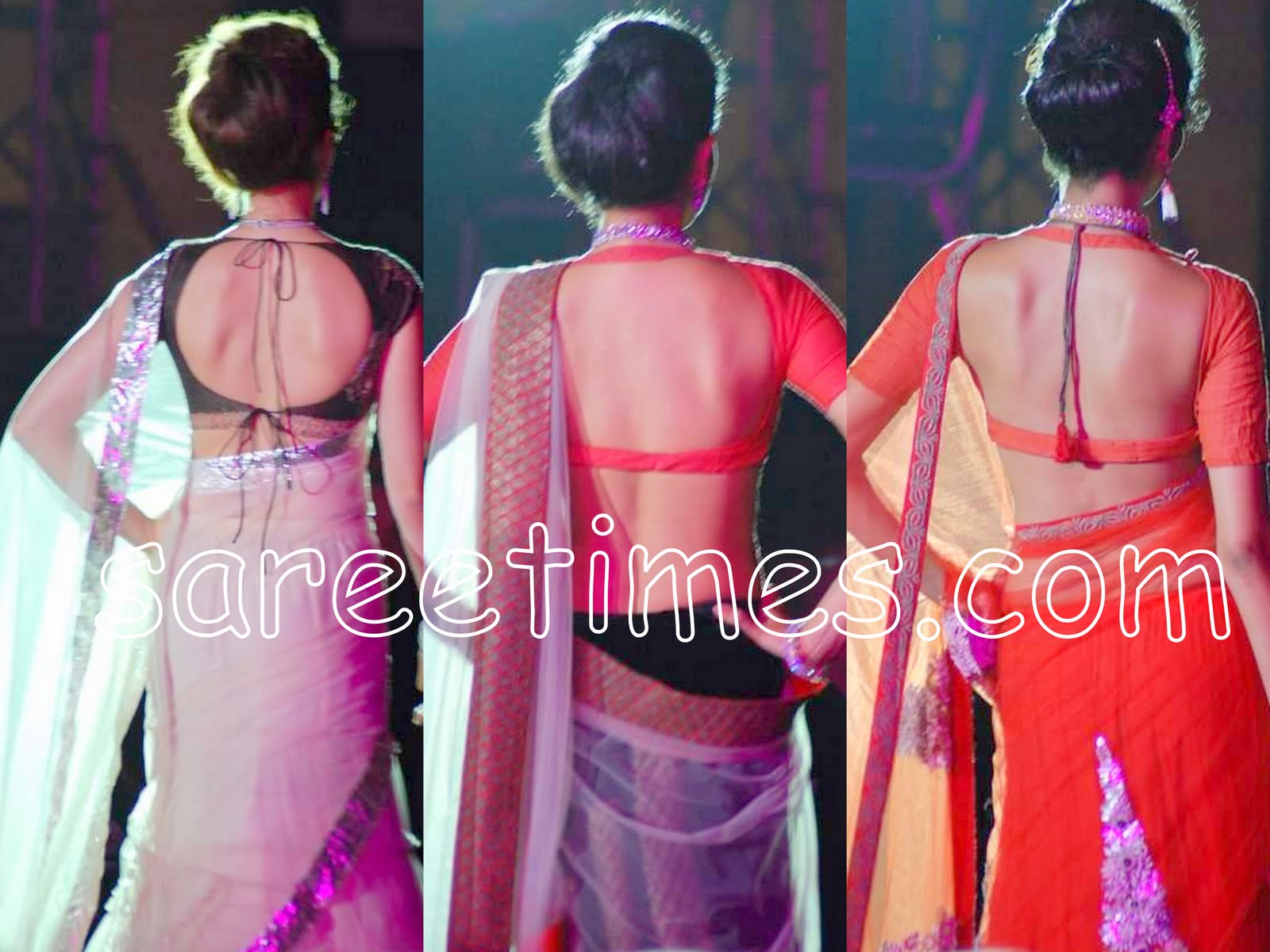 2010 Latest Saree Blouse Designs for Back