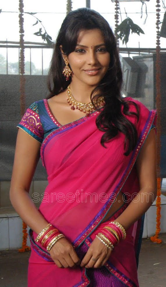 priya anand saree in pink colour wallpapers