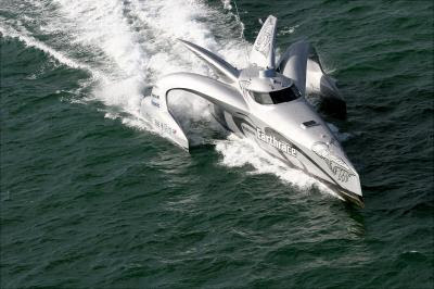 Earthrace, the world's fastest eco-boat in Kochi(cochin)