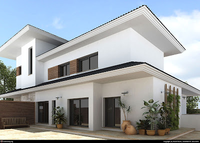 Exterior Home Design on March 2009   Kerala Home Design   Architecture House Plans