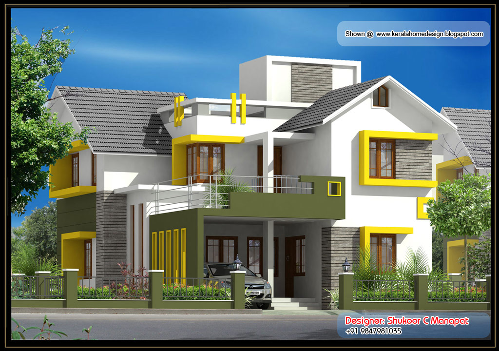 Kerala Villa Plan 2035 Sq Ft Pool Hoouse Lest Trend