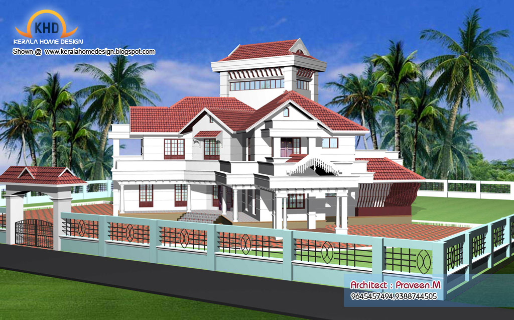 Home Plan And Elevation   6544 Sq. Ft