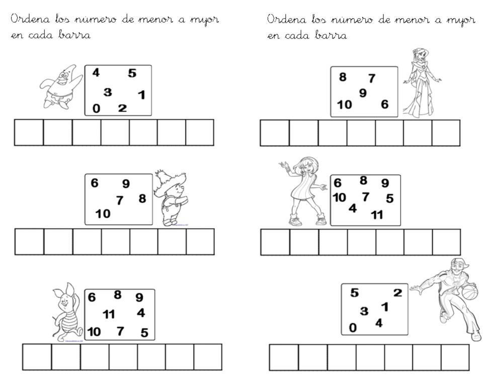 Trabaja con los niños de Educación Infantil: Ordena los números