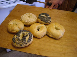 Homemade bagels poppy and sesame