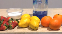 ingredientes  hacer  buen zumo de fresas