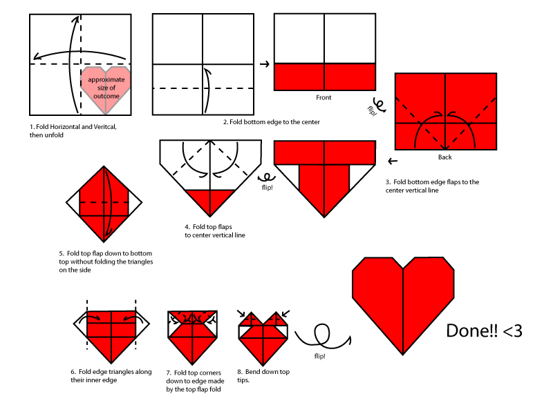 money heart origami instructions