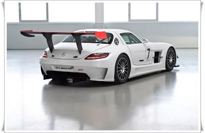 2010 mercedes benz sls amg gt3 rear angle view