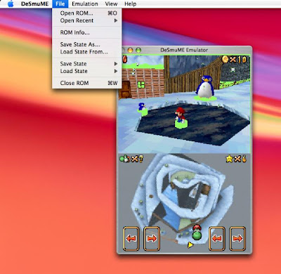 NDS Emulator & 47 Roms OS X preview 1