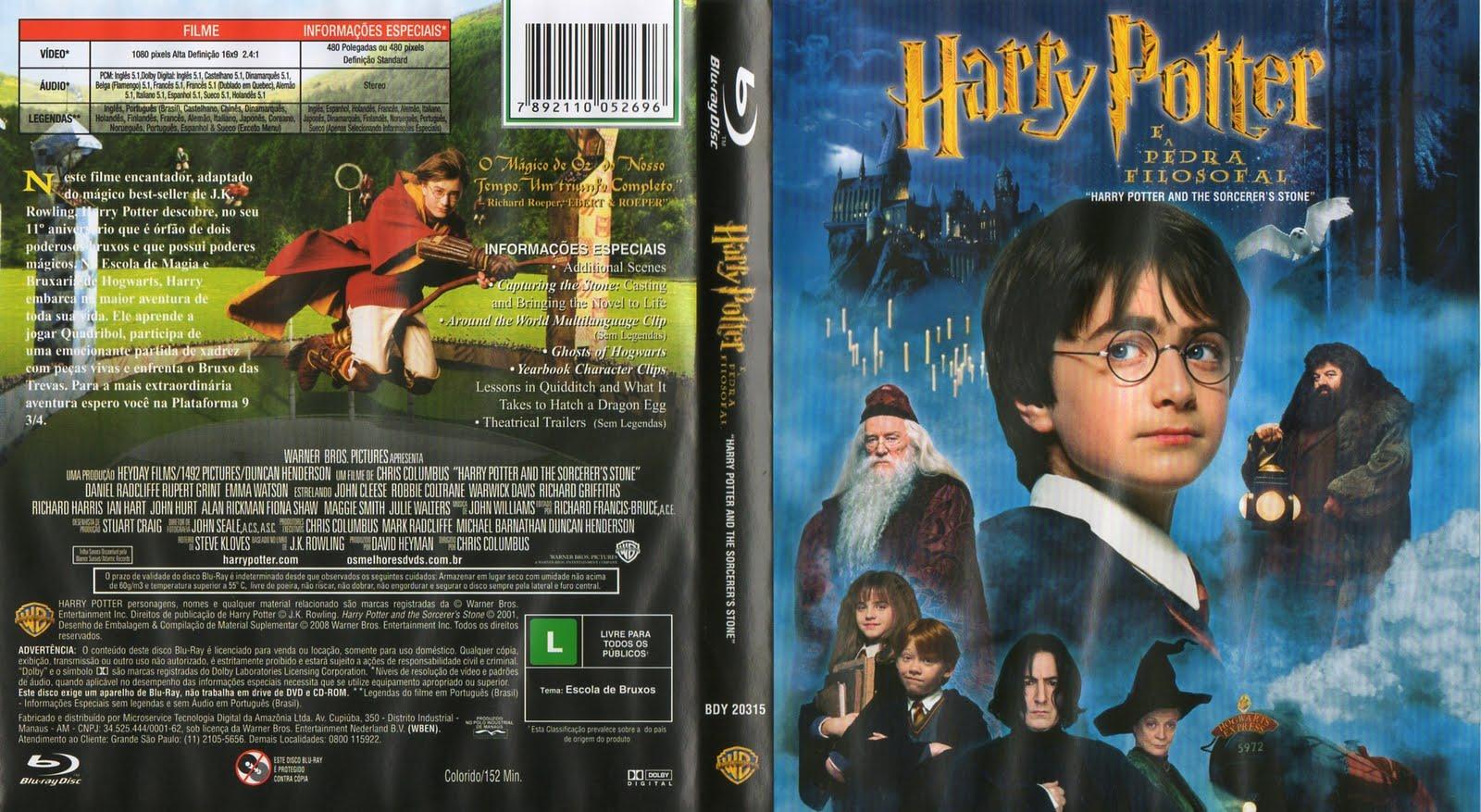 Harry Potter É A Pedra Filosofal with capas filmes: harry potter e a pedra filosofal