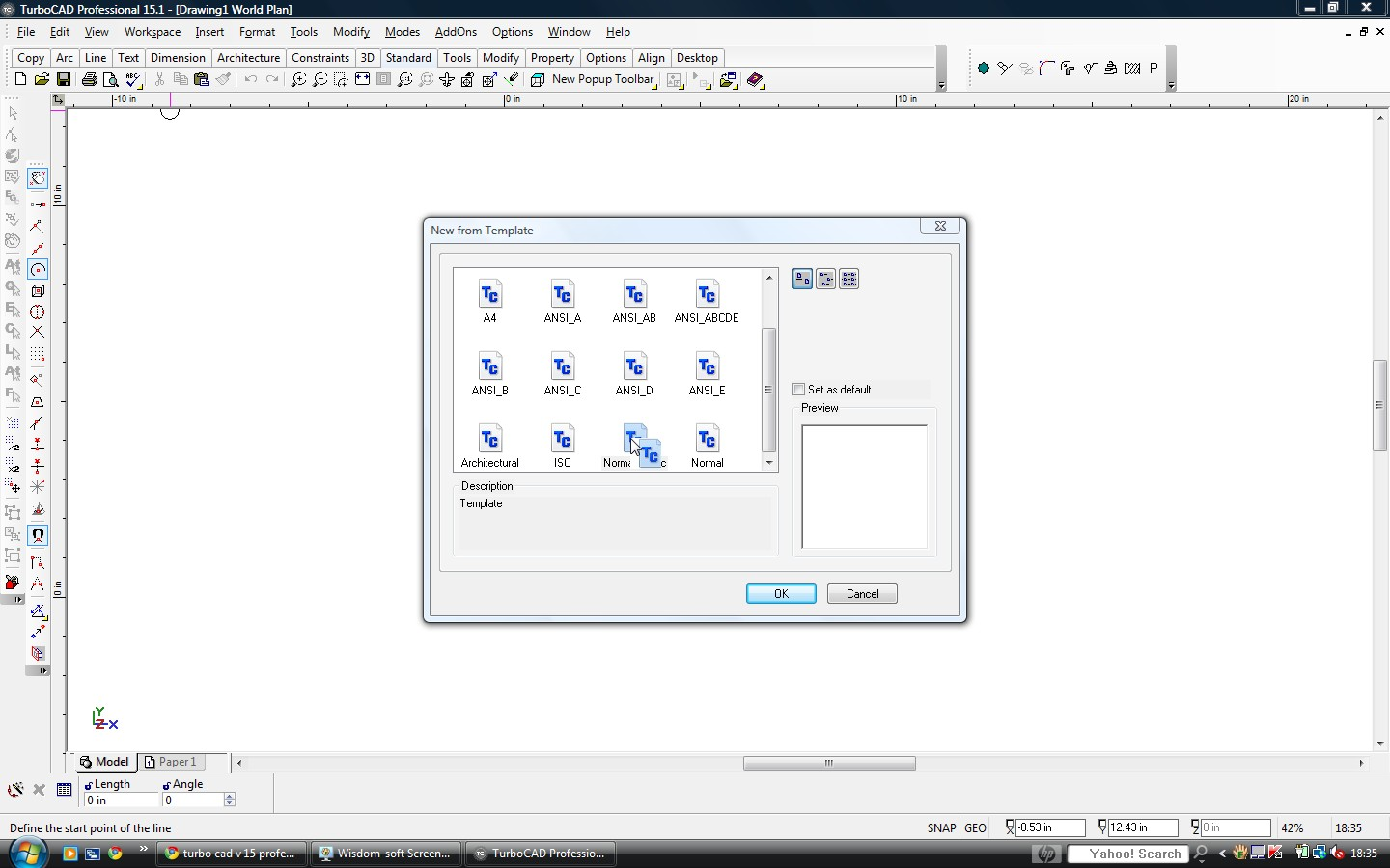 turbocad v 15 professional opening a normal metric template With turbocad templates