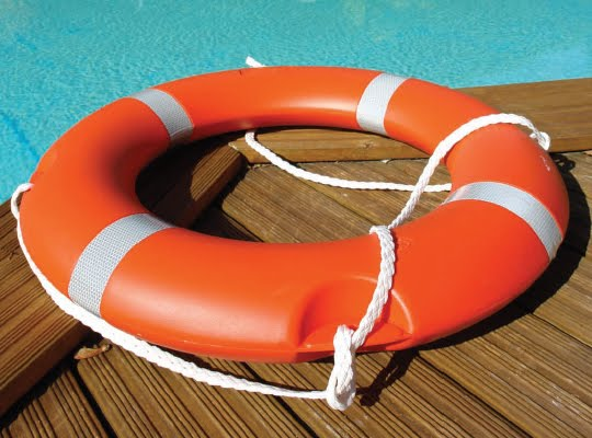Swimming pool safety life saving equipment fun