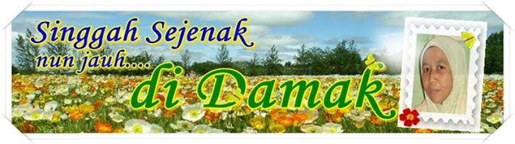 SINGGAH SEJENAK NUN JAUH DI DAMAK