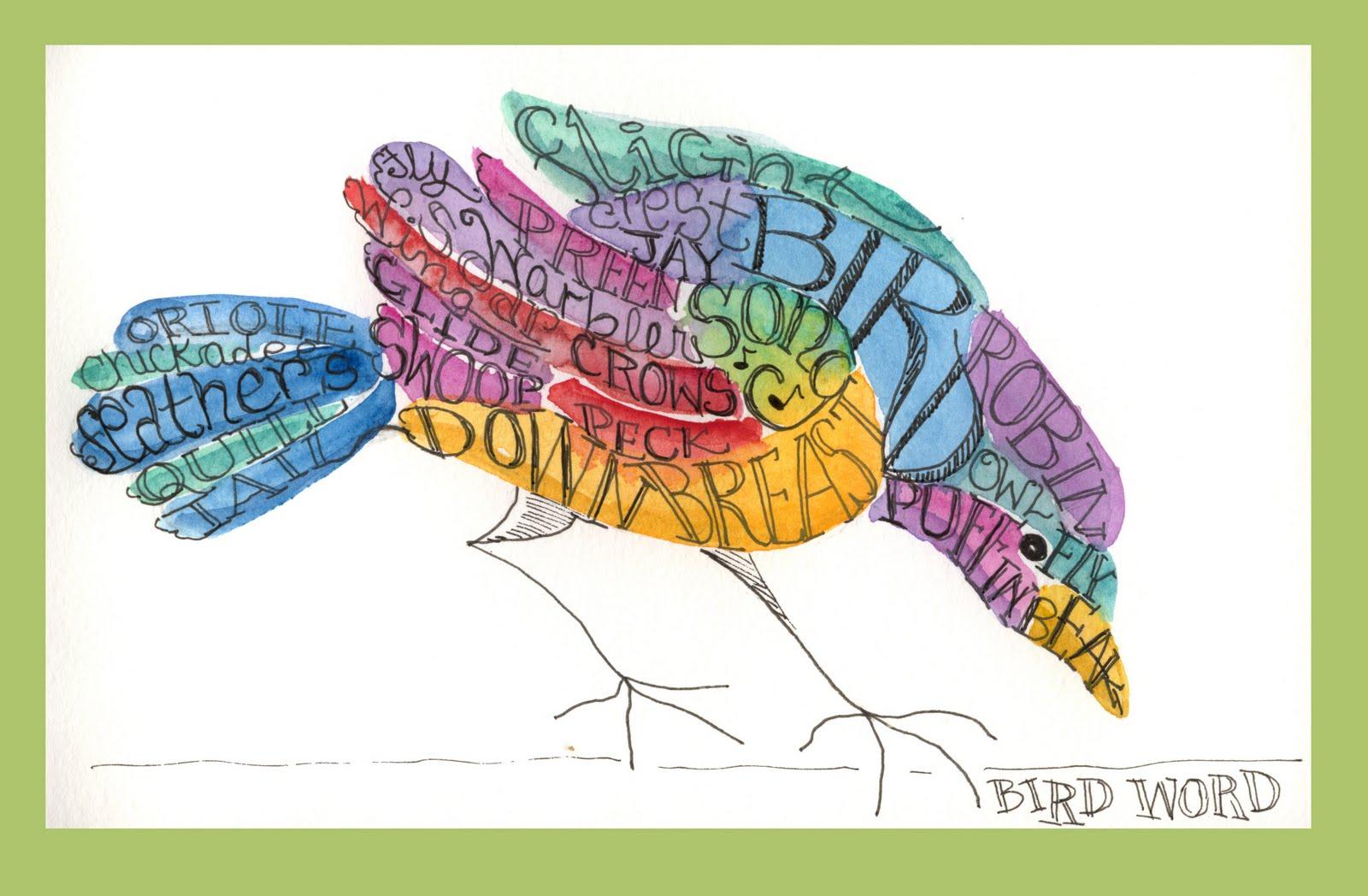 Peggy Turchette 365 Birds: Day Twenty: Bird Words