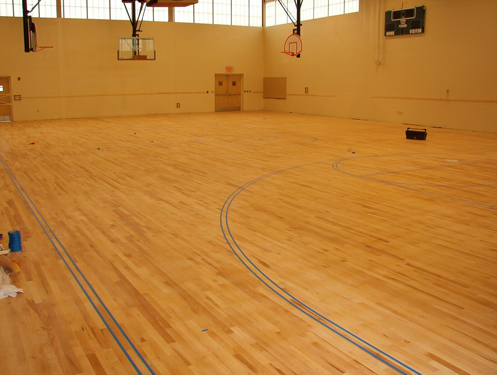 Applegate wood floors blog featured project maple gym for Gym flooring