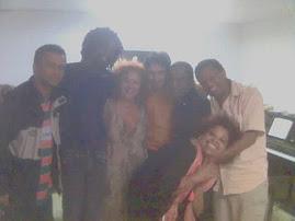Valdir, Seu Jorge, Beth Carvalho, Eu, Amigo do S. Jorge, o Poeta E. Galdino, a cantora Graça Braga