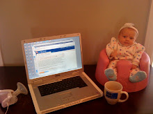 Vivian helping me start my blog!