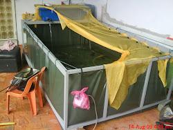 Pakej  Penternakan Kolam Kanvas di halaman rumah