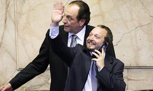 Martín Sabbatella, junto a Carlos Heller