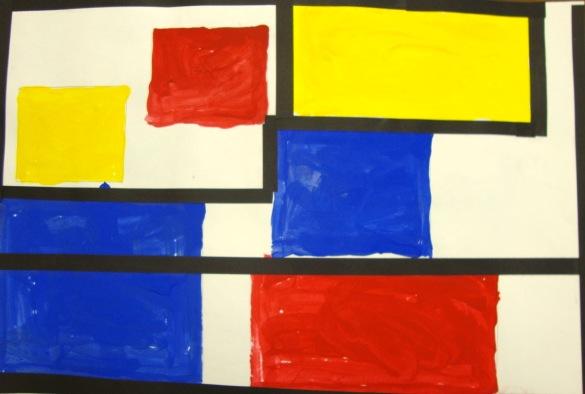 1st Grade Primary Mondrian