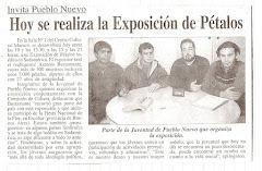 Exposición de Petalos organizada en 2003 por la Juventud de Pueblo Nuevo