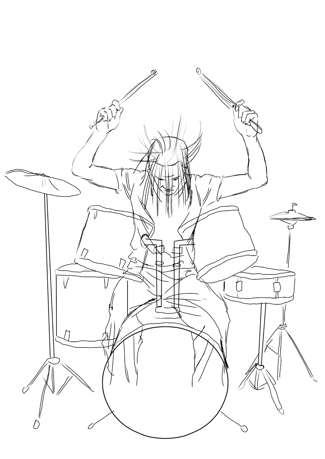 94  simple drums drawing