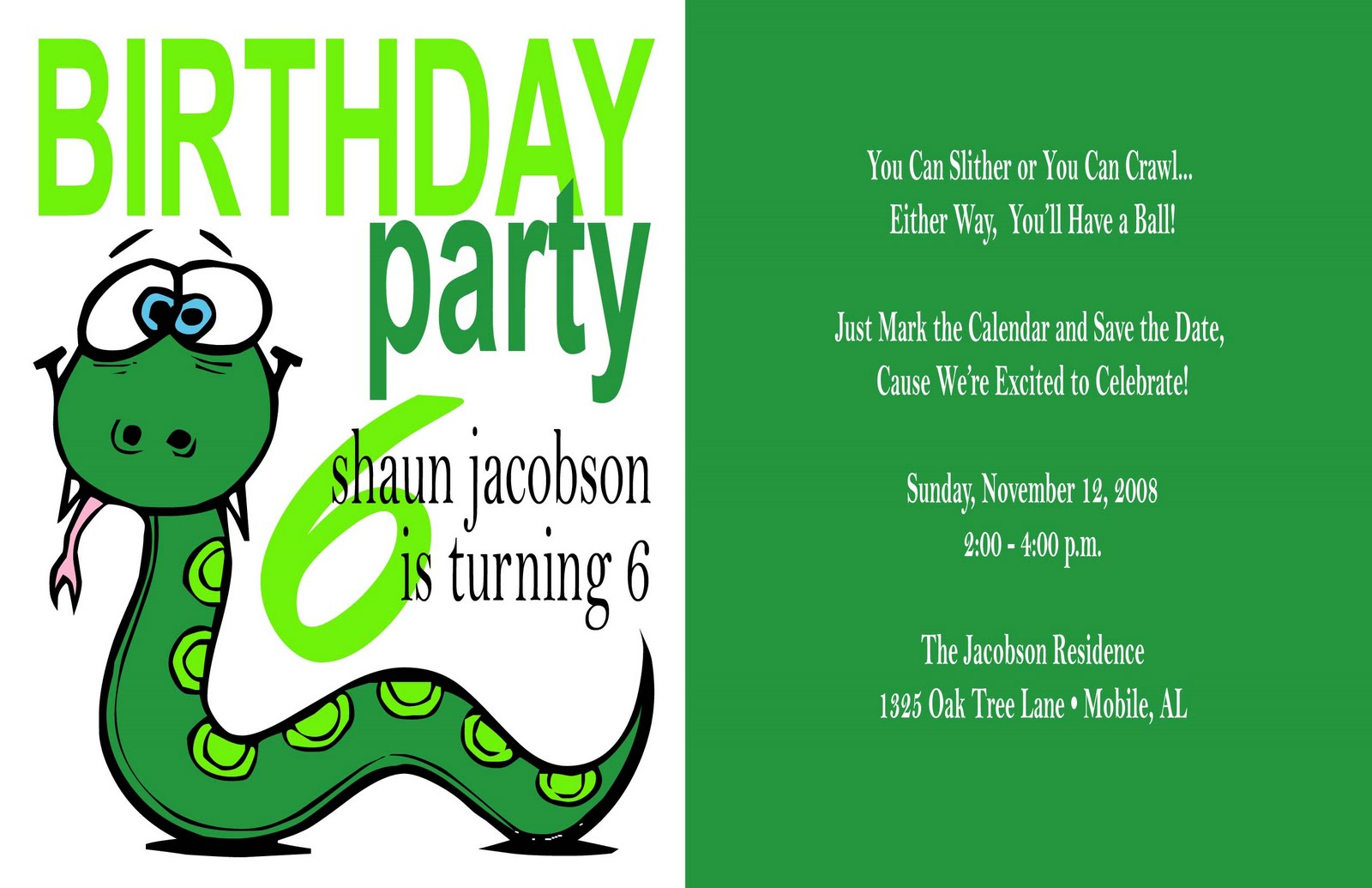 40th Birthday Ideas Reptile Birthday Invitation Templates