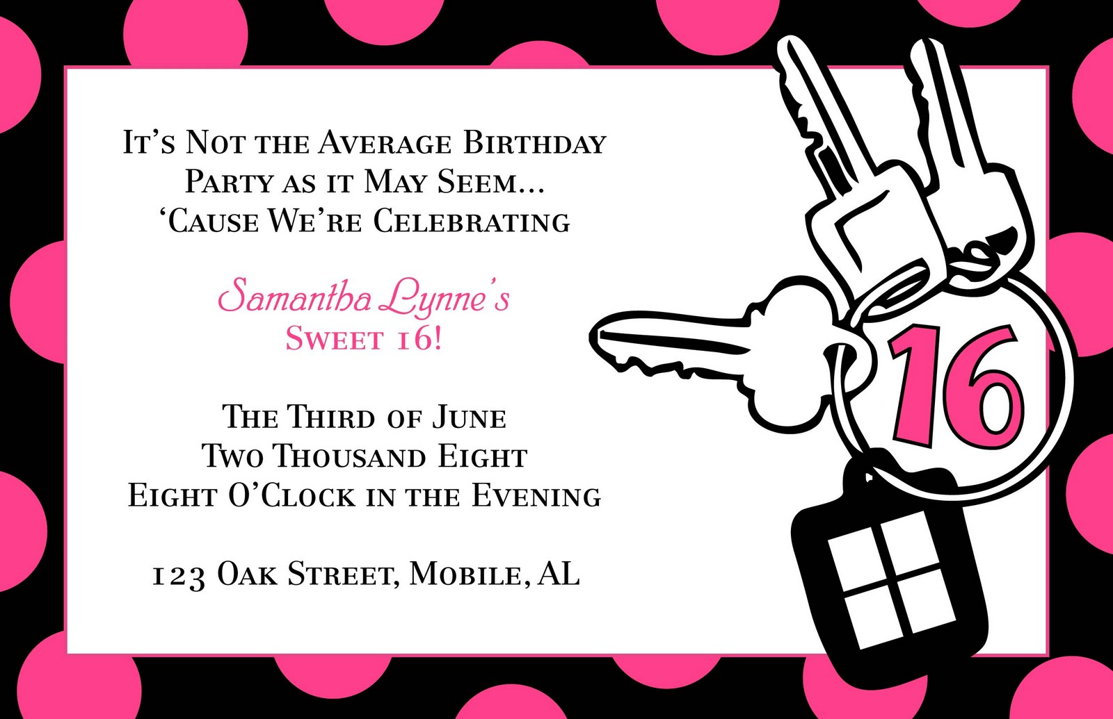 File Name : Sweet16-Invitation.jpg Resolution : 1600 x 1035 pixel ...