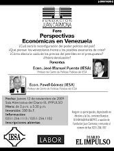 FORO PERSPECTIVAS ECONÓMICAS EN VENEZUELA: Jueves 12 Noviembre