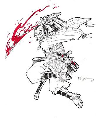Samurai tattoo flash