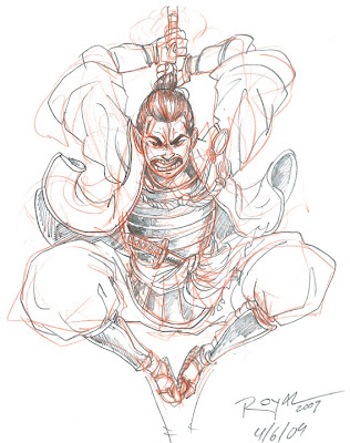 Samurai Tattoo sketch 01