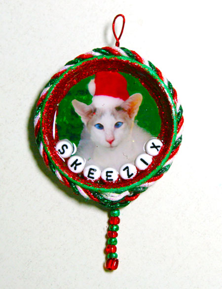 Cat crafter for Cat christmas ornaments craft