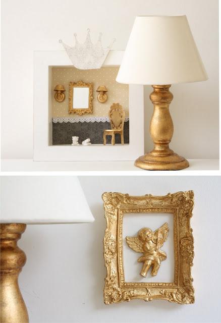 abajur+e+anjo+dourado Toque de Midas